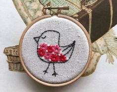 embroidery kit // The Hello Hooties Eli Hootie by dioramatist