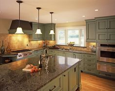 Sage Kitchen On Pinterest Traditional Kitchens Green Cabinets And
