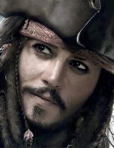 Johnny Depp as Jack Sparrow-Pirates of the Caribbean Captain Jack Sparrow, Jonh Deep, Film Pirates, Jack Sparrow Wallpaper, Film Star Wars, Rock Argentino, Here's Johnny, Pics Of Johnny Depp, Film Disney