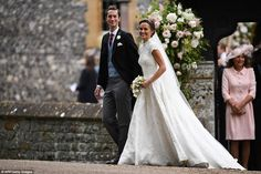The sheer lavishness of the setting for the evening reception held in the garden of their ... Carole Middleton, Pippa Middleton Wedding Dress, Middleton Family, Pippas Wedding, Sister Wedding, Wedding Gowns, Wedding Photos, Wedding Ceremony, Spring Wedding