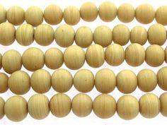 Bone Roundish Glass Beads 6-8mm (JV989)
