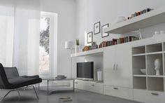 Bílý obývací pokoj se vrací do módy