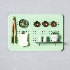 This cute metal peg board organizer is just what you need in your home to keep things running smoothly. Use the metal kitchen organizer as a central Pegboard Organization, Under Sink Organization, Jewelry Organization, Kitchen Organization, Organization Station, Organization Ideas, Organizing, Metal Pegboard, Kitchen Pegboard