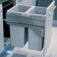 Euro Cargo 45 Waste Bin, with Soft Close Runners. Pull Out Space Saving Design (450mm Cabinet) 70 Litre - 50370922