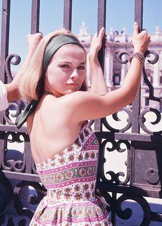 Virna Lisi in Madrid, 1963. 60s summer style. Photo by Gianni Ferrari.