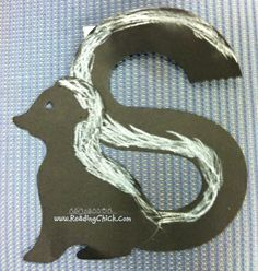 Letter Ss S is for skunk