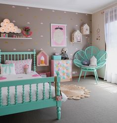 Teal and Pink | 12 Amazing Kids Bedrooms