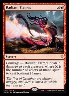 Radiant Flames mtg Magic the Gathering Battle for Zendikar red rare sorcery card