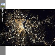 Repost from @whitehouse:  Its AstronomyNight at the White House! @NASA's here on the South Lawn teaching everyone about the science of astronomy. And tonight they're taking over our account to show different ways of observing the universe and seeing the world around us.  Heres a nighttime view of Washington D.C. from the astronauts on the International Space Station @ISS on October 17. by nasa