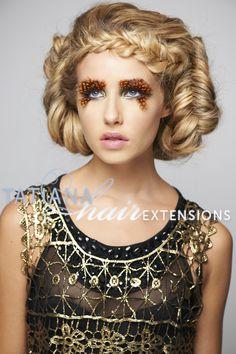 Avant Garde Hair. Hairstyle byn#tatianahairextensions using hair extensions and hair pieces, braided hair, undo, braided undo hair up