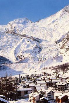 Saas Fee, Switserland. Ben ik ook geweest en daar heb ik een berg beklommen