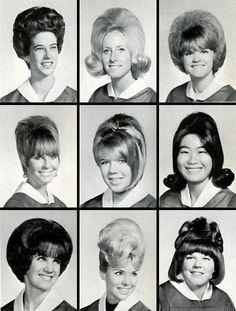1960s High school photos ... check out the hair do's.