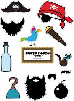Photobooth pirate à télécharger Deco Pirate, Pirate Day, Pirate Birthday, Pirate Theme, Homemade Pirate Costumes, Diy Pour Enfants, Pirate Crafts, Diy Photo Booth, Creative Workshop