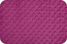 Dimple Dot Raspberry Minky