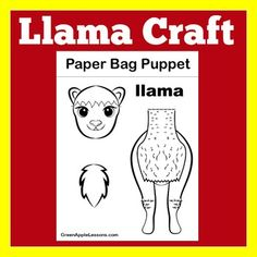 Paper Bag Crafts, K Crafts, Puppet Crafts, Preschool Activities, Paper Crafting, Llama Llama Red Pajama, Pre Writing Practice, Llama Decor, Paper Bag Puppets