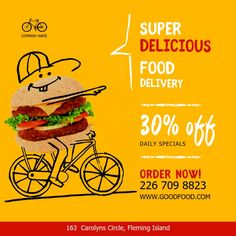 Discover recipes, home ideas, style inspiration and other ideas to try. Flyer Restaurant, Restaurant Advertising, Restaurant Delivery, Advertising Flyers, Flyer Dj, Radio Flyer, Logo Service, Self Service, Food Poster Design