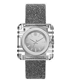 Tory Burch Izzie Watch, Silver Crystal/silver, 36 X 36 Mm - #yassss