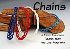 Micro Macrame Tutorial  Chains  Pattern  by KnotJustMacrame