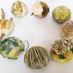 The grass is always greener. Grouping of wet felted spheres. Merino wool and mixed fibre and textile. Mixed Fiber, Textile Artists, Felting, Merino Wool, Grass, Place Card Holders, Textiles, 3d, Felt