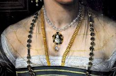 Detail Portrait of a Lady by Peter de Kempeneer, c. 1530
