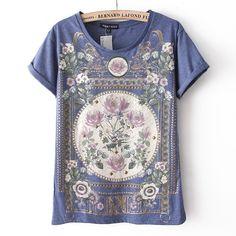 Rivet Vintage Floral Print T-shirt