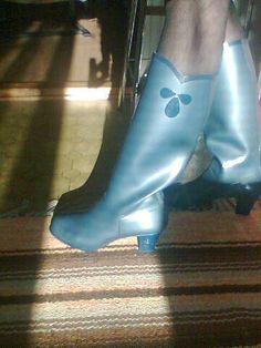 Nokia rubberboots model Evita High Heel Boots, High Heels, Plastic Boots, Ballet Shoes, Dance Shoes, Wellies Rain Boots, Rain Wear, Trousers Women, Hunter Boots