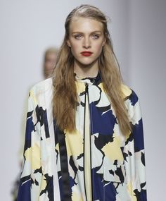 wgsn:  Abstract florals take on a camo appearance at the @topshop #LFW #SS15 show.