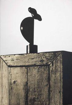 Michelangelo Pistoletto - Arp su un mobile di Marcel Duchamp - Serigrafia su acciaio inossidabile lucidato a specchio - cm. 100x70