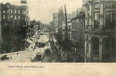 Pre 1907 Postcard Monroe Street Scene, Grand Rapids, Michigan