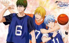 Kuroko no basket. Mirodima kise and kuroko on blue team. Midorima is such a cold hearted ass XD Midorima Shintarou, Kise Ryouta, Akashi Seijuro, Haikyuu, Desenhos Love, Takao Kazunari, Kiseki No Sedai, Netflix Anime, Akakuro