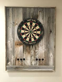 Dart Board for Rec Room. Simple way to control missed darts, and looks great.