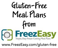 Gluten Free Meal Plans from FreezEasy.com