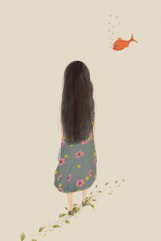Character Sketches, Art Sketches, Art Drawings, Wallpaper Bible, Disney Wallpaper, Aesthetic Art, Aesthetic Anime, Watercolor Girl, Cute Girl Drawing