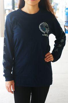 Navy Blue LS t-shirt - loggerhead