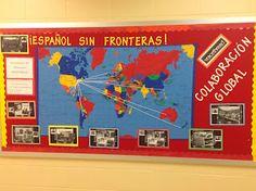 comprehens input, teachspanish, teach español, teaching spanish, bulletin board, map, blog, teacher, teach spanish