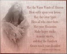 Native American Blessing--Cherokee