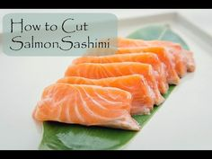 How to Cut Salmon for Sashimi and Nigiri | Fish for Sushi - YouTube