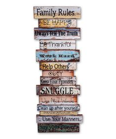 Family Rules Wall Art inspirational wall art signs :: family & friends wall signs