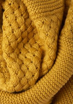 Yellow Brick Cold Scarf. Falling temperatures, sleet, and flurries - oh my! #yellow #modcloth