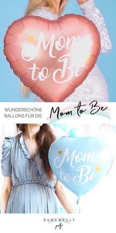 """Wunderschöner Herz-Folienballon in Rosa oder Blau mit Aufschrift """"Mom to be"""". Liebevolle Aufmerksamkeit für die werdende Mama zur Babyparty oder als Überraschung Baby Belly, Reveal Parties, Gender Reveal, Movie Posters, Pink, Boy Baby Showers, Boy Or Girl, Amazing, Guys"""