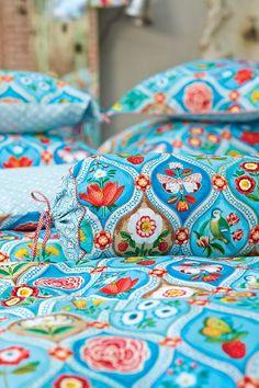 Cottage Charm ~ Pip Studio ~ PiP Fairy Tiles Dekbedovertrek Turquoise