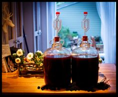 Blackberry & Elderberry home made wine