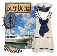 """""""Boat Dock"""" by smylin ❤ liked on Polyvore featuring Forever 21 and Wanted Shoes"""