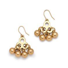 $100 Outfit: J.Crew Brass Droplet Earrings $32.50