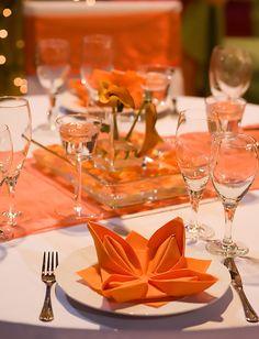 38 - Casamento branco e laranja - mesa
