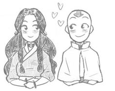 Aang and Katara.  I completely ship them.  Seriously, Zutara shipping is the most annoying ship the Avatar fandom ever created!! EVER!