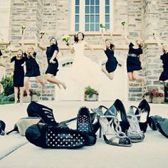 Good idea for Trina's wedding especially to show off everyone's different patterned heels!