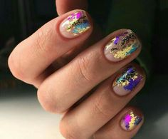 you should stay updated with latest nail art designs, nail colors, acrylic nails… – Long Showing Makeup – Eye Make Up Foil Nail Art, Foil Nails, Nails With Foil, Different Nail Designs, Best Nail Art Designs, Foil Nail Designs, Short Nail Designs, Nail Designs For Spring, Design Ongles Courts