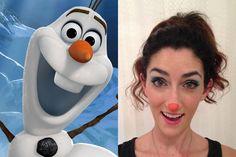How To Do An Olaf Halloween Costume, Olaf Makeup Tutorial | Gurl.com