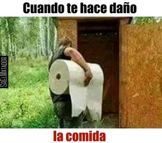 Más si te toca desvelarte sentado en el trono. #Baño #Papel #estomago #enfermo #Comida #SrElMatador #ElSalvador #SV #SrElMatador http://www.srelmatador.com #Foto